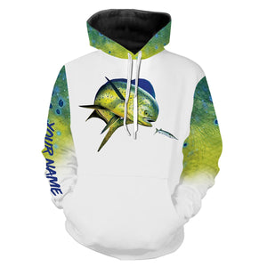 Mahi Mahi ( Dorado)  fishing Customized Name 3D All Over print shirts saltwater personalized fishing apparel for Adult and kid NQS529