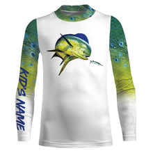 Load image into Gallery viewer, Mahi Mahi ( Dorado)  fishing Customized Name 3D All Over print shirts saltwater personalized fishing apparel for Adult and kid NQS529