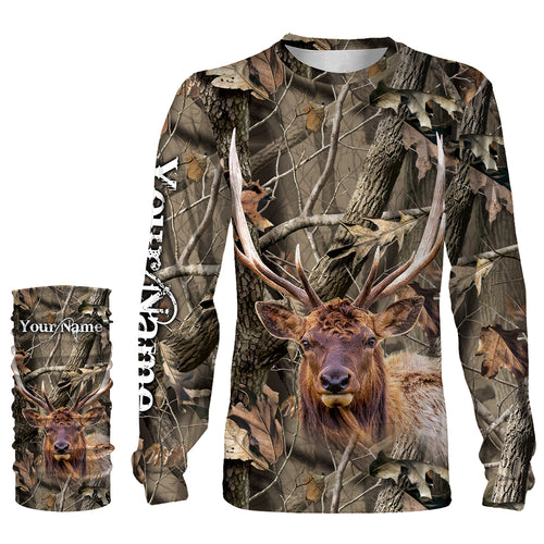 Best Elk Hunting Realtree Camo Custom Name 3D All over print shirts - personalized hunting apparel gifts for Adult and Kid - NQS769