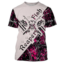 Load image into Gallery viewer, Fish Reaper Pink Muddy Camo Fishing Shirts 3D All Over print shirts personalized fishing apparel for Adult and kid NQS538