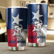 Load image into Gallery viewer, 1PC Texas Catfish fishing Customize name Stainless Steel Tumbler Cup Personalized Fishing gift fishing team - NQS810