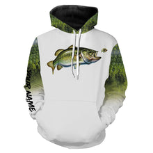 Load image into Gallery viewer, Largemouth Bass Fishing 3D All Over print shirts personalized fishing apparel for Adult and kid NQS576