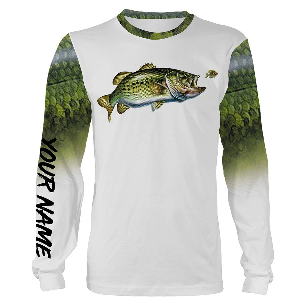 Largemouth Bass Fishing 3D All Over print shirts personalized fishing apparel for Adult and kid NQS576