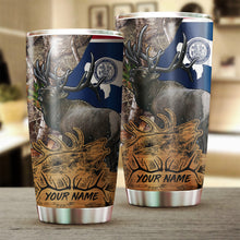 Load image into Gallery viewer, 1PC Elk Wyoming elk hunting camo Customize name Stainless Steel Tumbler Cup - Personalized Fishing gift for Fishing lovers - NQS985