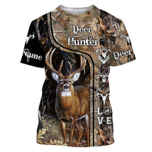 Load image into Gallery viewer, Deer Hunter big game hunting camo love hunting Custom Name 3D All over print shirts - personalized hunting gifts - NQS730