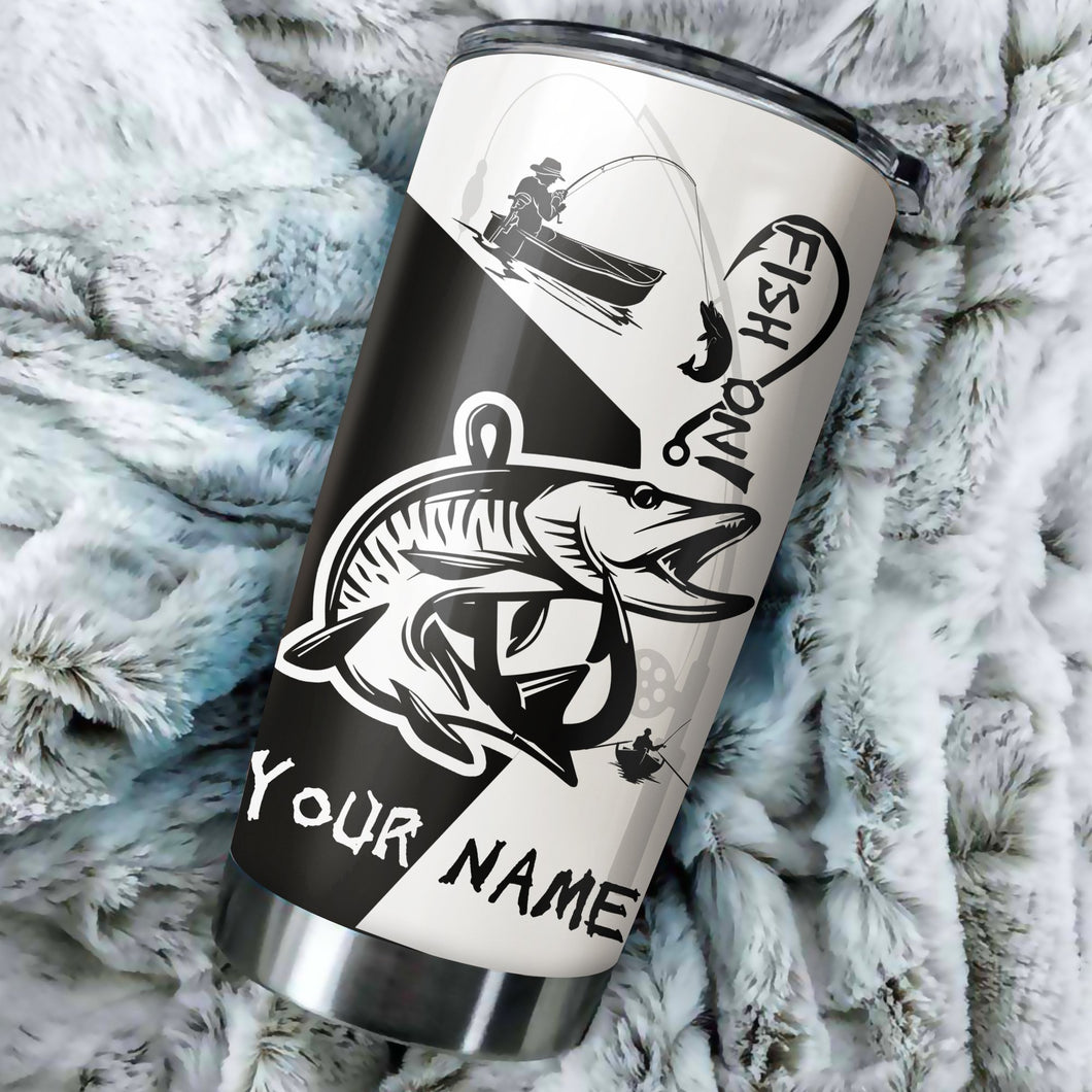 Musky Fish On Customize Name Tumbler Cup  Personalized Fishing Gift For Fisherman NQS367