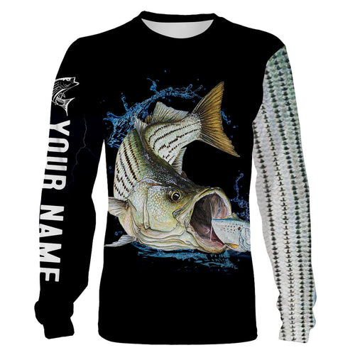Striped Bass (Striper) Fishing scale Customize name All over printed shirts - personalized fishing shirts for men, women and kid - NQS332