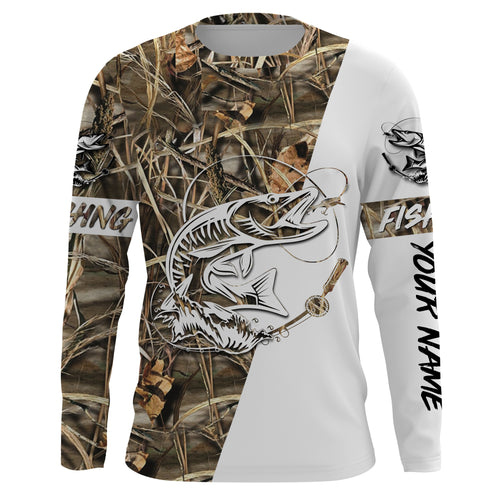 Musky ( Muskie) Tattoo Fishing performance fishing shirt UV protection quick dry customize name long sleeves UPF 30+ personalized gift for Fishing lovers - NQS657