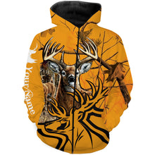 Load image into Gallery viewer, Deer hunter game yellow camo Deer Hunting Customize Name 3D All Over Printed Shirts Personalized Hunting gift For Men, women and kid NQS962