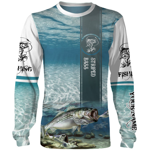 Striped Bass ( Striper) Fishing 3D All Over print shirts personalized fishing apparel for Adult and kid NQS562