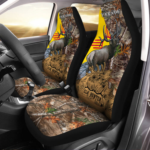 New Mexico NM Elk Hunting Custom 3D Printed Seat Covers , perfect car accessories - personalized hunting gift for hunting lovers Set of 2 - NQS585