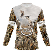 Load image into Gallery viewer, Wild pheasant hunting dogs English setter camouflage clothes Customize Name 3D All Over Printed Shirts NQS1025