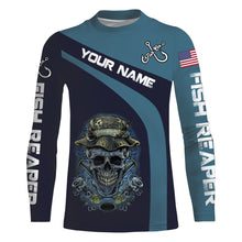 Load image into Gallery viewer, Fish Reaper Fish On American Fisherman UV protection quick dry Customize name long sleeves UPF 30+ personalized gift - NQS739