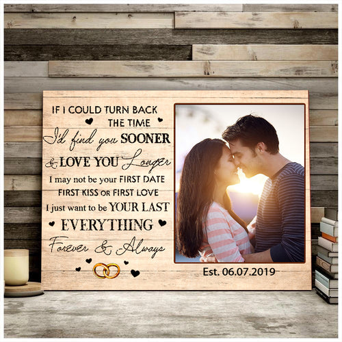 Personalized Custom Photo Canvas, I love you Forever & Always , Gifts For Him, Gifts For Her, Anniversary Gifts, Valentine's Day Gifts D05 NQS1257