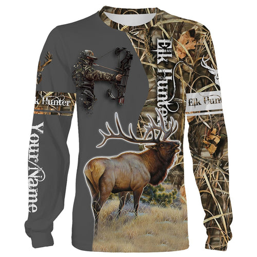 Elk hunter Shirts Custom Name 3D All over print Shirts - Hunting gift for Men, Women and Kid - FSD66