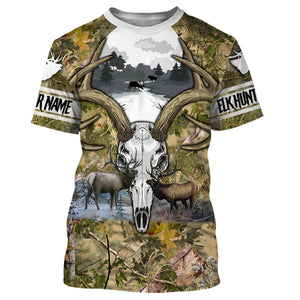 Elk hunting Custom Name 3D All over print shirts - personalized hunting gifts - FSD240