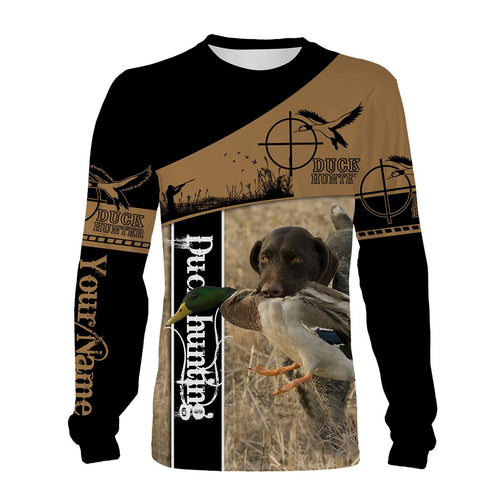 Duck hunting with dog custom Name 3D All over print Shirts - Personalized hunting gifts - FSD421