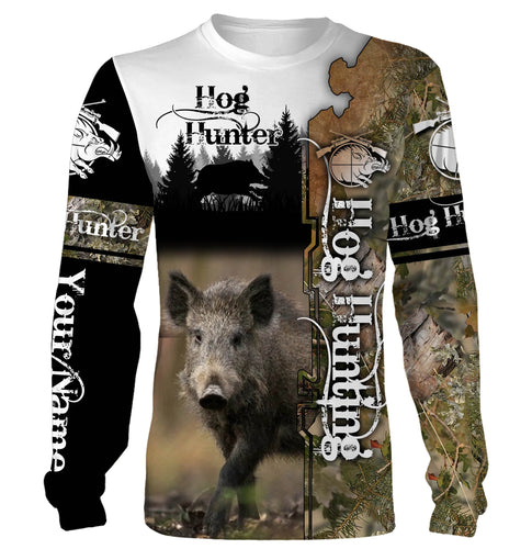 Hog hunting Custom Name 3D All over print Shirts, Face shield - personalized hunting gifts - FSD292
