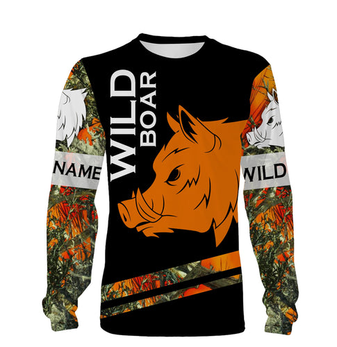 Wild Boar hunting custom Name 3D All over print shirts, face shield - Personalized hunting gifts - FSD453