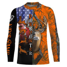 Load image into Gallery viewer, Deer Hunting American Flag Custom name All over print shirts - personalized hunting gift for men, women and kid - FSD40