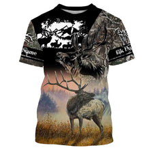 Load image into Gallery viewer, Personalized Elk Hunting Full Print T- Shirt, Long Sleeve, Hoodie, Zip up hoodie - hunting gift FSD47