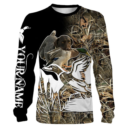 Duck Hunting Custom Name All over print T-shirt, Long Sleeves, Hoodie, Zip up Hoodie - FSD60