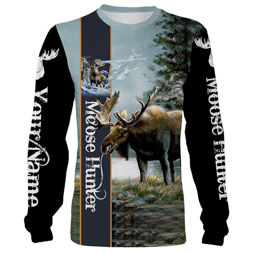 Personalized beautiful Moose hunting camo 3d all over printed shirts - hunting gift for men, women and kid - FSD8