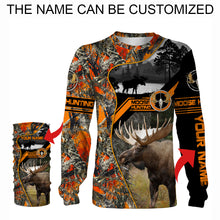 Load image into Gallery viewer, Moose hunting Custom Name 3D All over print Shirts, Face shield - personalized hunting gifts - FSD267