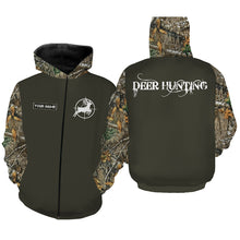Load image into Gallery viewer, Deer hunting camouflage shirt custom name 3D full printing Sweatshirt, Long sleeves, Hoodie - Personalized hunting gift for Men, Women and Kid - FSD639