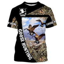Load image into Gallery viewer, Goose Hunting Custom Name 3D All over print Shirts - Hunting gift for Men, Women and Kid - FSD67