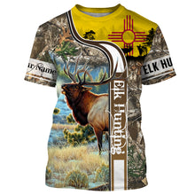 Load image into Gallery viewer, Elk Hunting New Mexico Flag Custom Name All Over Print Shirts - Hunting gift for men, women and kid - FSD48