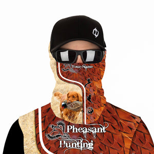 Pheasant hunting with TOLLER Custom Name 3D All over print Shirts, Face shield - Personalized hunting gifts - FSD396