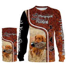 Load image into Gallery viewer, Pheasant hunting with TOLLER Custom Name 3D All over print Shirts, Face shield - Personalized hunting gifts - FSD396