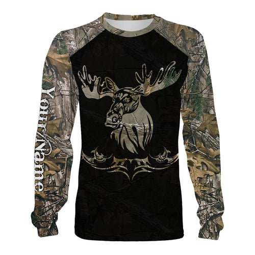 Moose hunting Camouflage custom Name 3D all over print Shirt, Face shield - Personalized shirt for Moose hunter, gift for Men, Women and Kid - FSD706