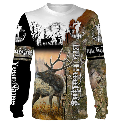 Best Elk Hunting Custom name Full printing Shirt, Hoodie, Long sleeves - FSD22