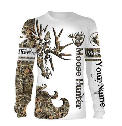 Moose tattoo Custom Name 3D All over print Shirts - Personalized hunting gift -  FSD182
