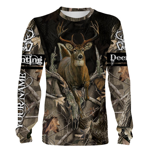Whitetail deer hunting Deer antlers realtree camo Custom Name 3D full printing Shirt, Hoodie, Long sleeves, Sweatshirt - FSD745
