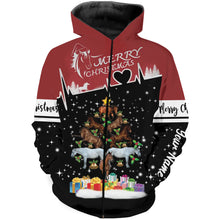 Load image into Gallery viewer, Christmas horse custom Name 3D All over print Sweatshirt, Long sleeves, Hoodie, Zip up hoodie -  Merry Christmas gifts for horse lovers - FSD525