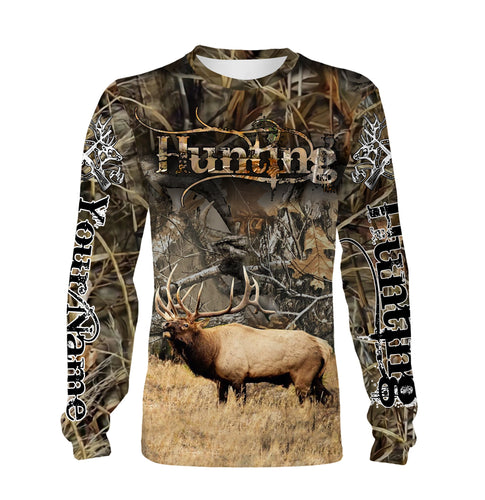 Elk hunting Custom Name 3D All over print Shirts - Personalized hunting gift - FSD214