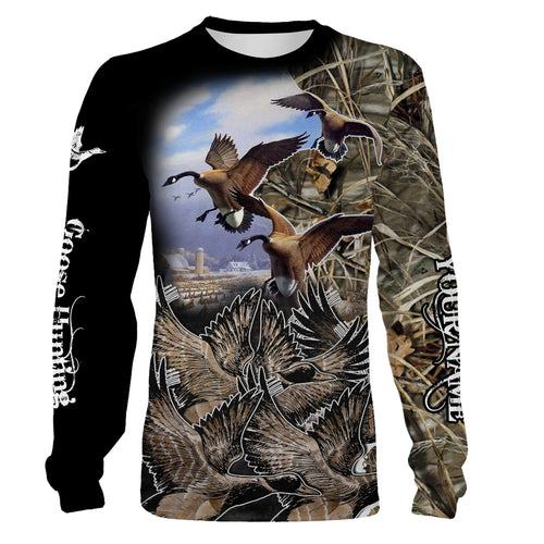 Waterfowl Hunting Custom Name 3D All over print T-Shirt, Long sleeves, Hoodie - FSD68