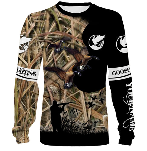 Goose Hunting Custom Name 3D All over print shirts - Hunting gift for Men, Women and Kid - FSD69