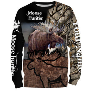 Moose hunting Custom Name 3D All over print shirts - personalized hunting gifts - FSD235