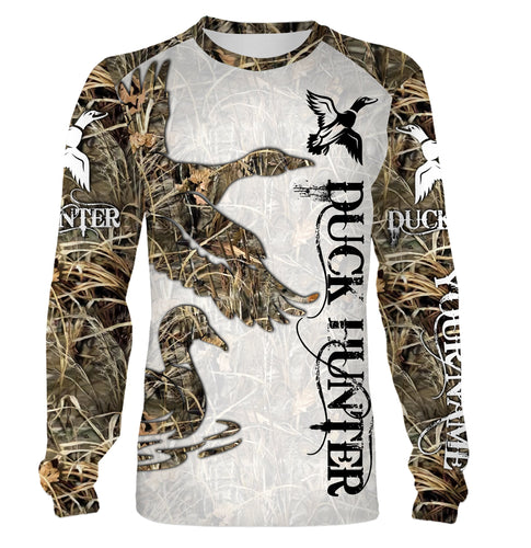Duck Hunting Custom Name 3D printing Hoodie, Zip up hoodie, Long sleeves, T-shirt - FSD88