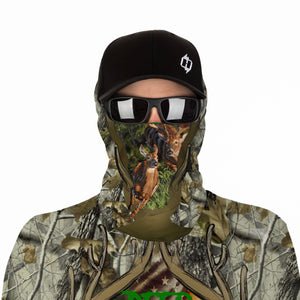 White-tailed deer hunting 3D All over print Shirts, Face shield - Personalized hunting gifts - FSD393