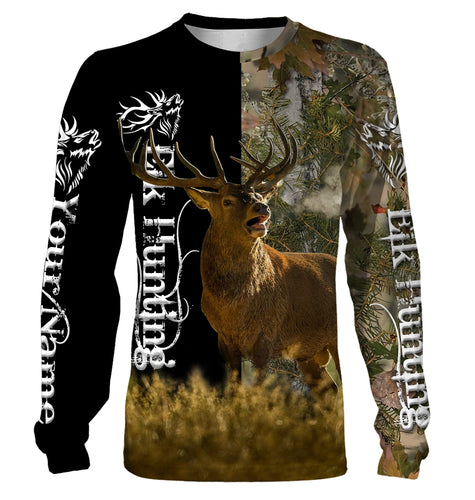 Elk hunting Custom Name 3D All over print Shirts - Hunting gift for Men, Women and Kid - FSD116