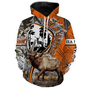 Elk hunting Custom Name 3D All over print Shirts, Face shield - personalized hunting gifts - FSD280