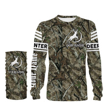Load image into Gallery viewer, Deer hunter Camouflage shirt custom Name 3D full printing Sweatshirt, Long sleeves, Hoodie - Personalized hunting gift for Men, Women and Kid - FSD659