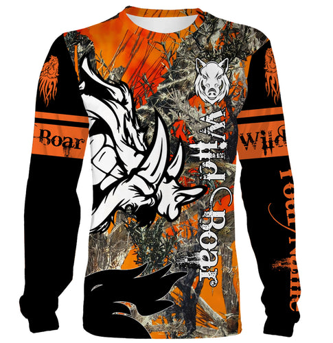 Wild Boar hunting Custom Name 3D All over print shirts - personalized hunting gift - FSD147