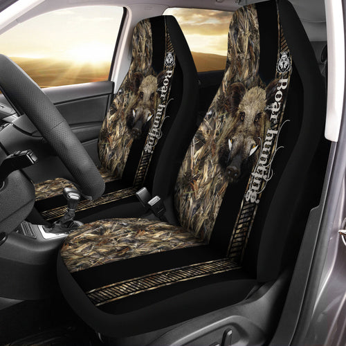 Boar Hunting 3D All over print Seat Covers - Car Accessories Hunting gifts Set of 2 - FSD496