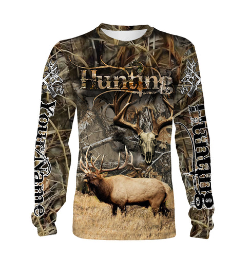 Elk hunting Custom Name 3D All over print Shirts - Personalized hunting gift -  FSD179